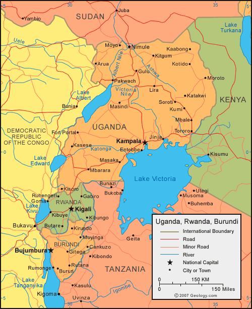 political_map_of_uganda_rwanda_and_burundi
